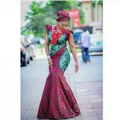 Online Hub For Fashion Beauty And Health: Lovely And Stunning Ankara Long Gown Dress For The. African Dresses For Women, African Attire, African Wear, African Fashion Dresses, African Women, African Lace, African Inspired Fashion, African Print Fashion, Africa Fashion