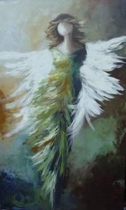 Lee Wilson. Her angels add such an impact to a room.