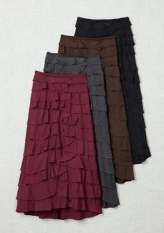 Petal Skirt - Acacia--love these! Modest Skirts, Cute Skirts, Modest Outfits, Skirt Outfits, Modest Fashion, Dress Skirt, Cute Outfits, Ruffled Skirts, Modest Clothing