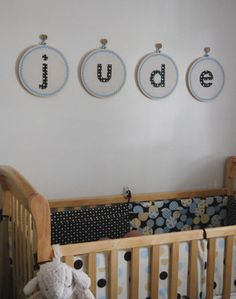 Embroidery Hoop Name Letters for Nursery Decor... - HOME SWEET HOME