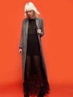 Model wears 90S style for Zara fall 2015 Lookbook Photoshoot