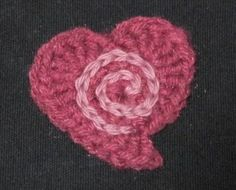 SPIRAL IN A HEART.... this is a cute free pattern
