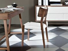Walnut chair SWEET 21 Sweet Collection by Gervasoni | design Paola Navone