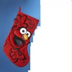 17 Sesame Street Elmo Ho Ho Ho Applique Christmas Stocking * Check out this great product.