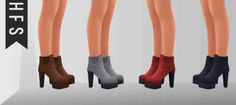 My Sims 4 Blog: High Ankle Boots by HFS
