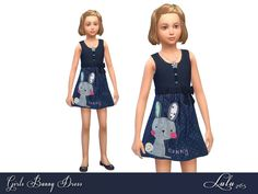 The Sims 4 : Lulu265's Girls Bunny Dress @ The Sims Resource