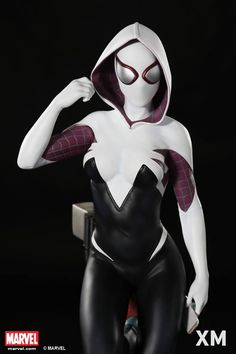 XM Studios is excited to present our next Marvel Premium Collectibles series statue, Spider-Gwen! The fun and cool alternate universe version of Gwen Stacy is immortalized in amazingly detailed 1:4 scale cold-cast porcelain. Each painstakingly handcrafted statue is individually hand-painted with the highest possible quality finish. Sculpted by George Gregory, this highly detailed 1:4 scale statue of Spider-Gwen comes with 3 portraits for various moods and expressions.