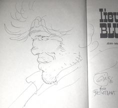 Giraud : Dédicace de Blueberry 1986 par Jean Giraud - Œuvre originale