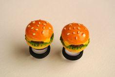 Burger Plugs Gauges Sizes 0g by GoldYardGauges, $17.99