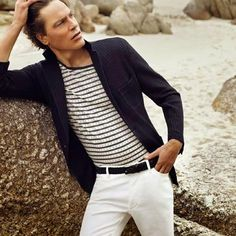 This Nautical inspired look is great for the beach or the office...
