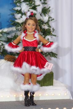 Výsledek obrázku pro christmas pageant outfit of choice Glitz Pageant Dresses, Pageant Wear, Party Dresses, Baby Pageant, Pageant Girls, Dance Outfits, Girl Outfits, Flower Girl Tutu, Flower Girls