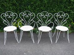 amazing french iron garden furniture view by size: . a wrought iron garden bench. full size of garden furniture:ivory folding garden ch… Wrought Iron Garden Furniture, White Patio Furniture, Wrought Iron Patio Chairs, Iron Furniture, Furniture Chairs, Furniture Sets, Furniture Vintage, Outdoor Furniture, Muebles Art Deco