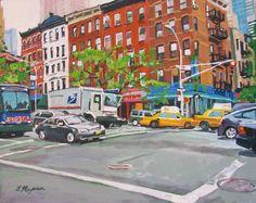 NYC Art Wall Decor NYC Fine Art Print  8x10 West by GwenMeyerson, $20.00