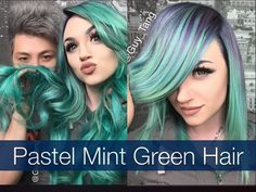 Pastel Mint Green Hair with Mykie of Glam&Gore.
