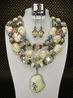 BRIDAL COWGIRL NECKLACE Set / Chunky 3 by CayaCowgirlCreations, $150.00