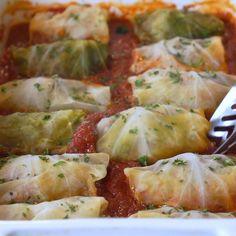 Cheesy Recipes, Easy Healthy Recipes, Healthy Cabbage Recipes, Vegetarian Cabbage Rolls, Healthy Recipe Videos, Easy Meals, Polish Food Recipes, Mexican Food Recipes, Vegetarian Recipes