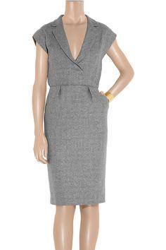Tweed wrap-effect dress by Yves Saint Laurent