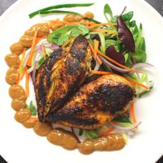 Soy glazed butterfly chicken with satay sauce. | Slimming world recipes | must for peanut butter lovers!