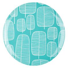 Buy MissPrint Little Trees Dinner Plate, Aqua Online at johnlewis.com