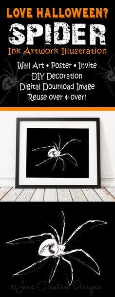 Halloween SALE Art Print, On Sale Spider Halloween Printable Decor - print halloween decorations