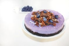 Raw Vegan Blueberry chesecake