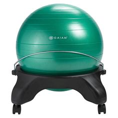 Shop Gaiam Classic Backless Balance Ball® PVC Chair Purple at Best Buy. Find low everyday prices and buy online for delivery or in-store pick-up. Office Ball Chair, Office Chairs, Pvc Chair, Chair Exercises, Glute Exercises, Workouts, Stability Ball, Good Posture, Workout Accessories