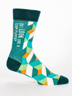 If Team Players wear super snazzy socks and ask rhetorical questions, then yes. Absolutely, you do. Who's asking? Men's shoe size 7-12. 71% combed cotton; 27% nylon; 2% spandex.