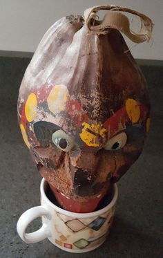 antique carved coconut head folk art treasure estate auction