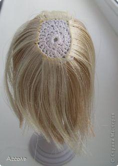 Мастер-класс Вязание крючком Шитьё Меняем прическу или Как сделать парик кукле МК Ленты Нитки фото 10