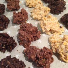 olles *Himmelsglitzerdings* Küche: 3erlei Crossies: Zartbitter-salzige Macadamia-Marshmallow, Vollmilch-Mandel-Zimt & weiße Schokolade-Haselnuss-Marzipan