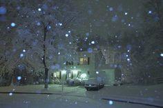 Christmas night snowfall.