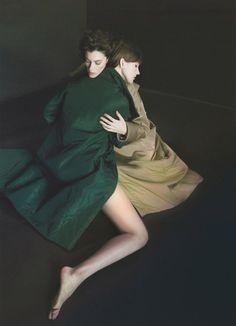 campaign Sofia Zharova fw16/17  models Anastasia Ivanova & Anna Yudakova muah Olga Korobeynik