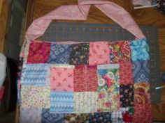 another patch work squares,, nice useable cloth bags