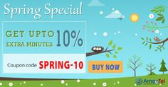 """#AmantelCallingCardOffer - Boom on #Amantel International minutes. Get upto 10% extra #minutes on this #Spring #Season and enjoy your #InternationalCalling. Use this coupon code - """"SPRING-10"""" when you buy Amantel calling card and take enjoy of extra minutes. Know more, click here - http://amantel.com/offers/spring-day-0816.html"""