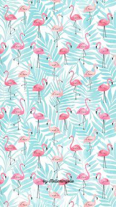Bedroom wallpaper blue design 20 new Ideas Flamingo Wallpaper, Summer Wallpaper, Wallpaper Decor, Animal Wallpaper, Screen Wallpaper, Pattern Wallpaper, Bedroom Wallpaper, Phone Backgrounds, Wallpaper Backgrounds