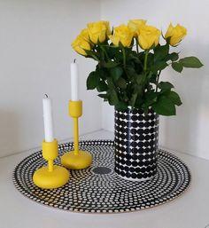 Päivän väri 💛#flowers #rose #iittala #marimekko #yellow #sisustus #interior #nordicminimalism #inspiroivakoti #etuovisisustus Marimekko, Scandinavian Design, Pillar Candles, Decoration, Heart, Interior, Instagram Posts, Diy, Home Decor