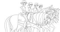 """Résultat de recherche d'images pour """"ranch coloriage"""" Coloring Sheets, Coloring Pages, Colouring, Horse Outline, Le Ranch, Doddle Art, Watercolor Horse, Horse Drawings, Scrapbooking"""