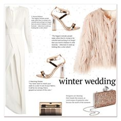 """True Romance: Winter Wedding"" by ladydzsen ❤ liked on Polyvore featuring Galvan, Clarins, Miss Selfridge and winterwedding"