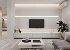 Minimalistic interior design on Behance Interior Design Minimalist, Minimalist Home Decor, Modern Minimalist Living Room, Living Room Tv Unit Designs, Interior Design Living Room, Tv Wall Design, House Design, Design Design, Design Ideas