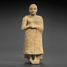 Sumerian Alabaster Statuette of a Worshipper  #aboutaam #ancient #art