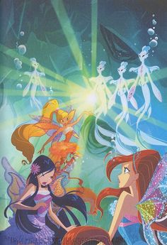 Bloom, Stella and Musa with Harmonix