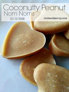 Fat bombs are a great and tasty way to get that healthy coconut oil into your diet. Try these easy Coconutty Peanut Nom Noms! THM and keto friendly.