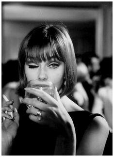 German fashion model Ina Balke. Photo: Ted Russell, 1964.
