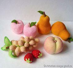 Вязаные фрукты и овощи - вязание и вышивка, плетение, авторские куклы и игрушки. МегаГрад - авторская ручная работа