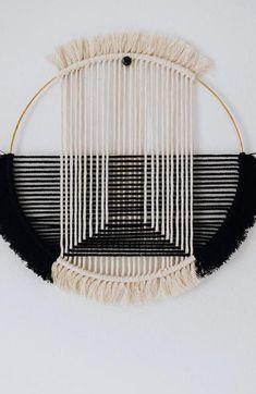 Weaving Wall Hanging, Wall Hangings, Bohemian Wall Decor, Polymer Clay Charms, Macrame Patterns, Handmade Ornaments, Metal Crafts, Crafty Craft, Diy Wall Art