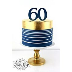 Image result for navy gold birthday cakes