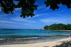 My favorite beach on the rock.Winnifred Beach, Jamaica
