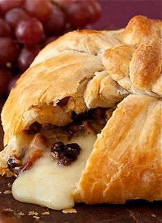 Brie En Croûte with Cranberries & Pecans