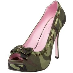 Who doesn't love a good shoe?I mean really, who wouldn't love a camo peek toe! What I love most is the little bow, a little kick of femininity is always loved.