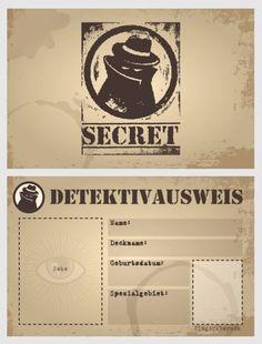 Detektivausweis Kindergeburtstag